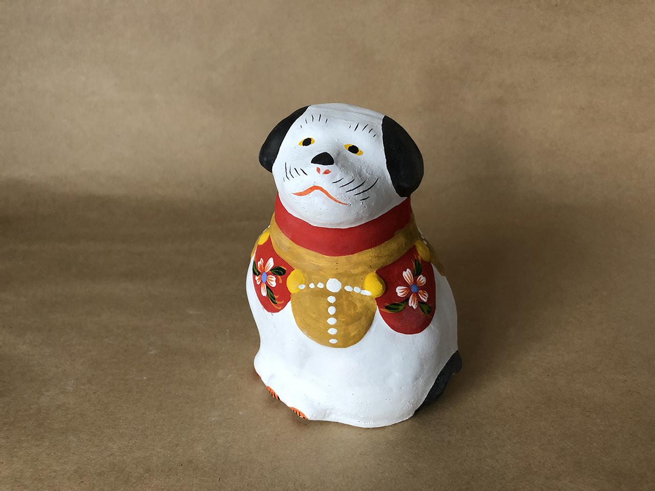 花巻人形工房|花巻人形「飾り犬(中)」