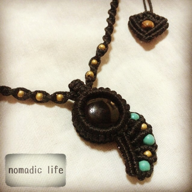 No.1//Onyx necklace from India