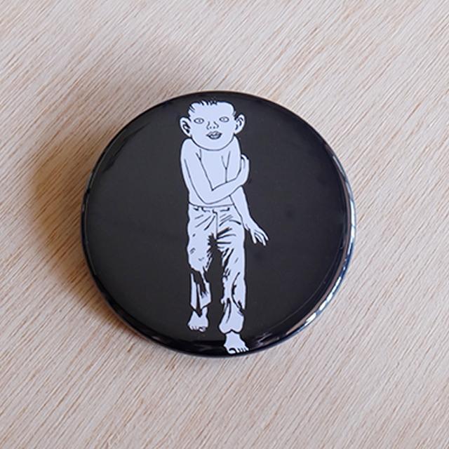 つげ義春缶バッジ「ねじ式/少年」(57mm)