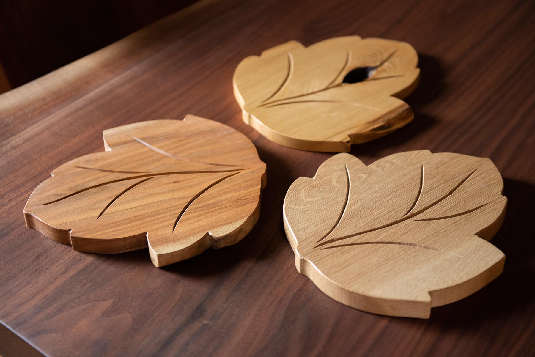 手作り家具の金鱗 / なべし木の葉っぱ 各樹種