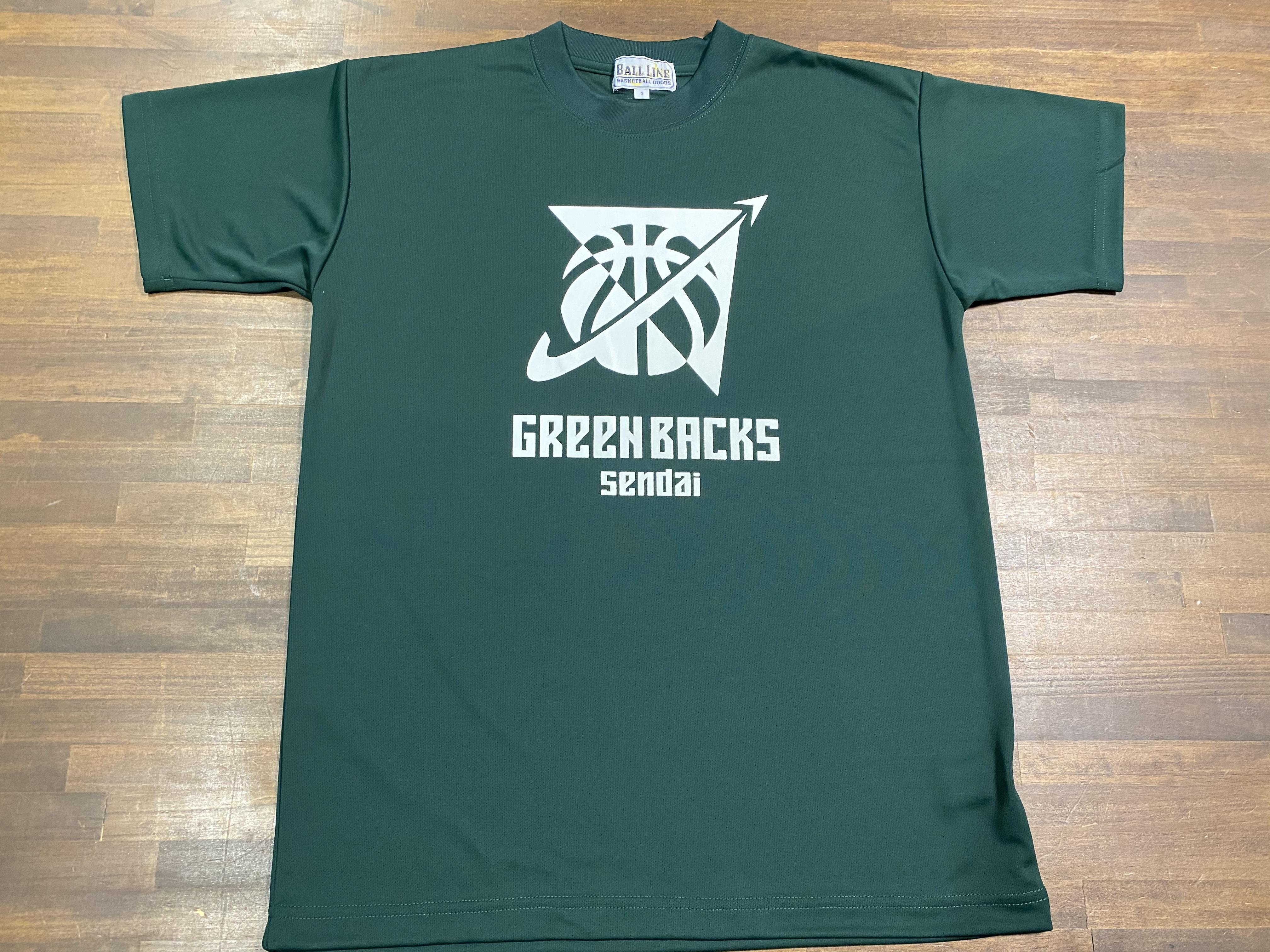 【デザインサンプル】川内GREENBACKS(U12・男子)  Tシャツ