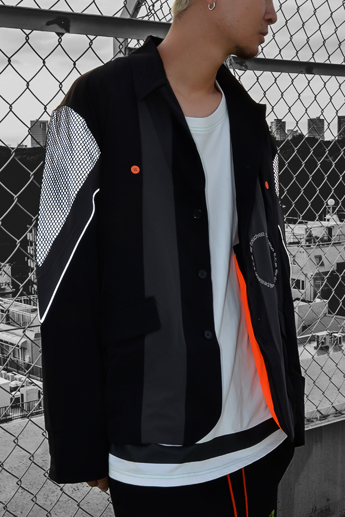 EQUIPMENT TAILORED JACKET - BLACK