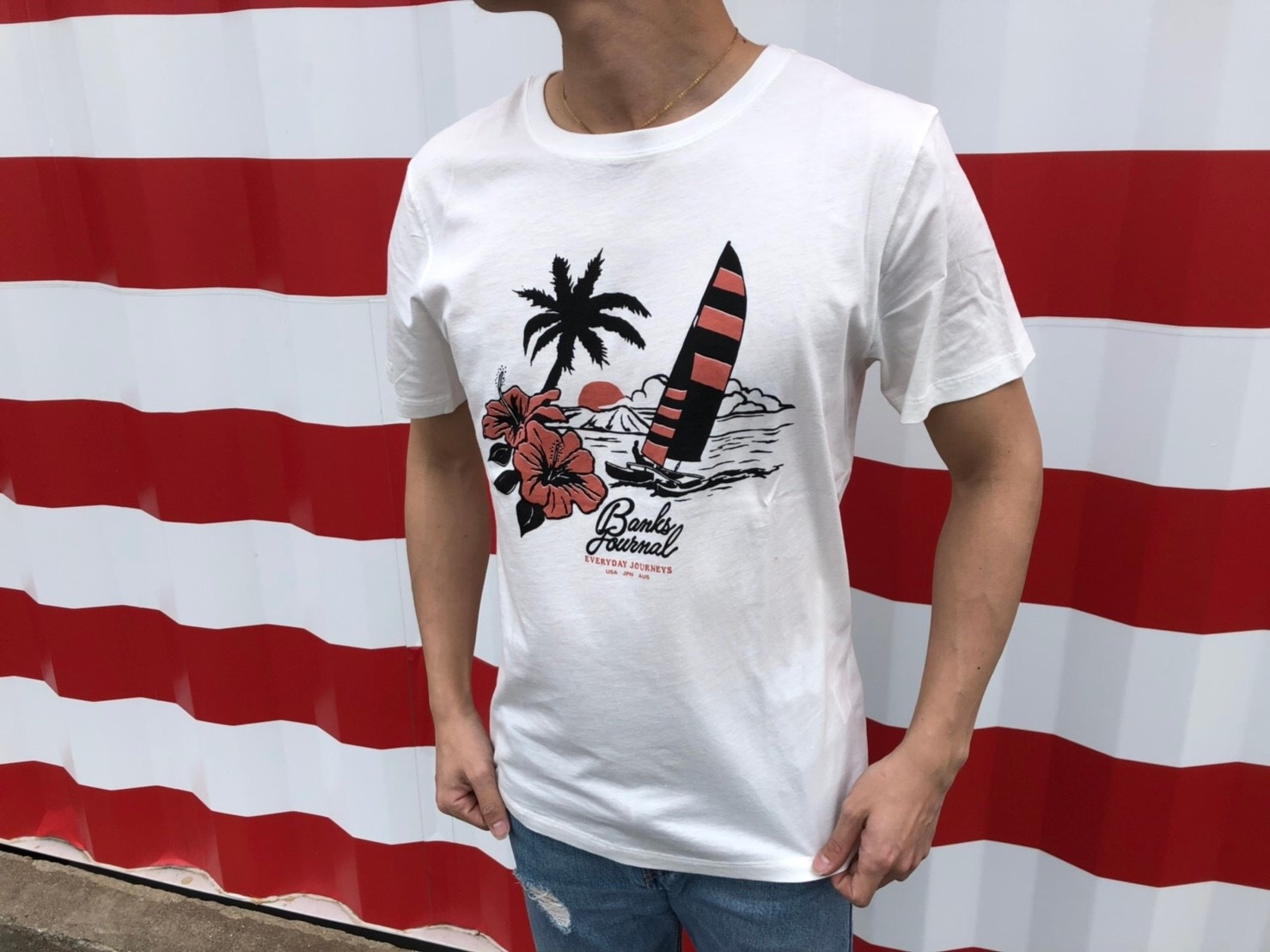 BANKS PACIFICA Tシャツ (off white)