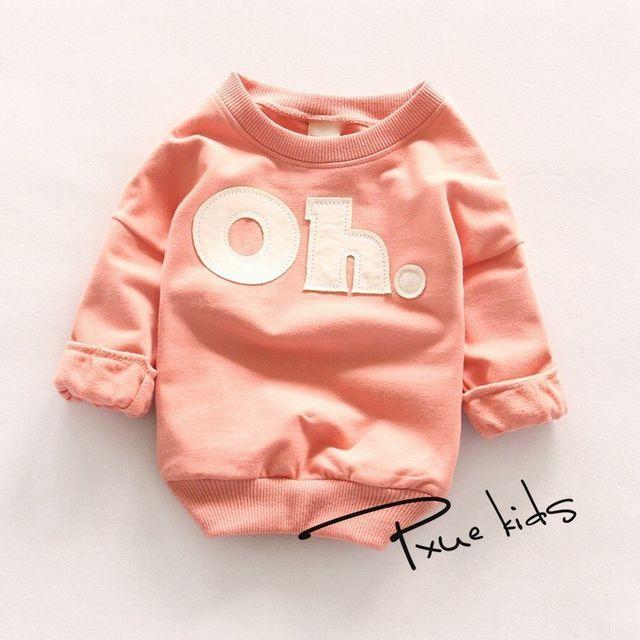 『Oh!』ロゴ パステルカラートレーナー ピンク