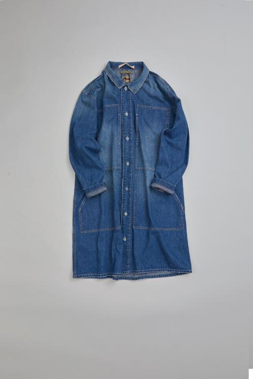 クライミングデニムドレス / CLIMBING DENIM DRESS - HEAVY WASH