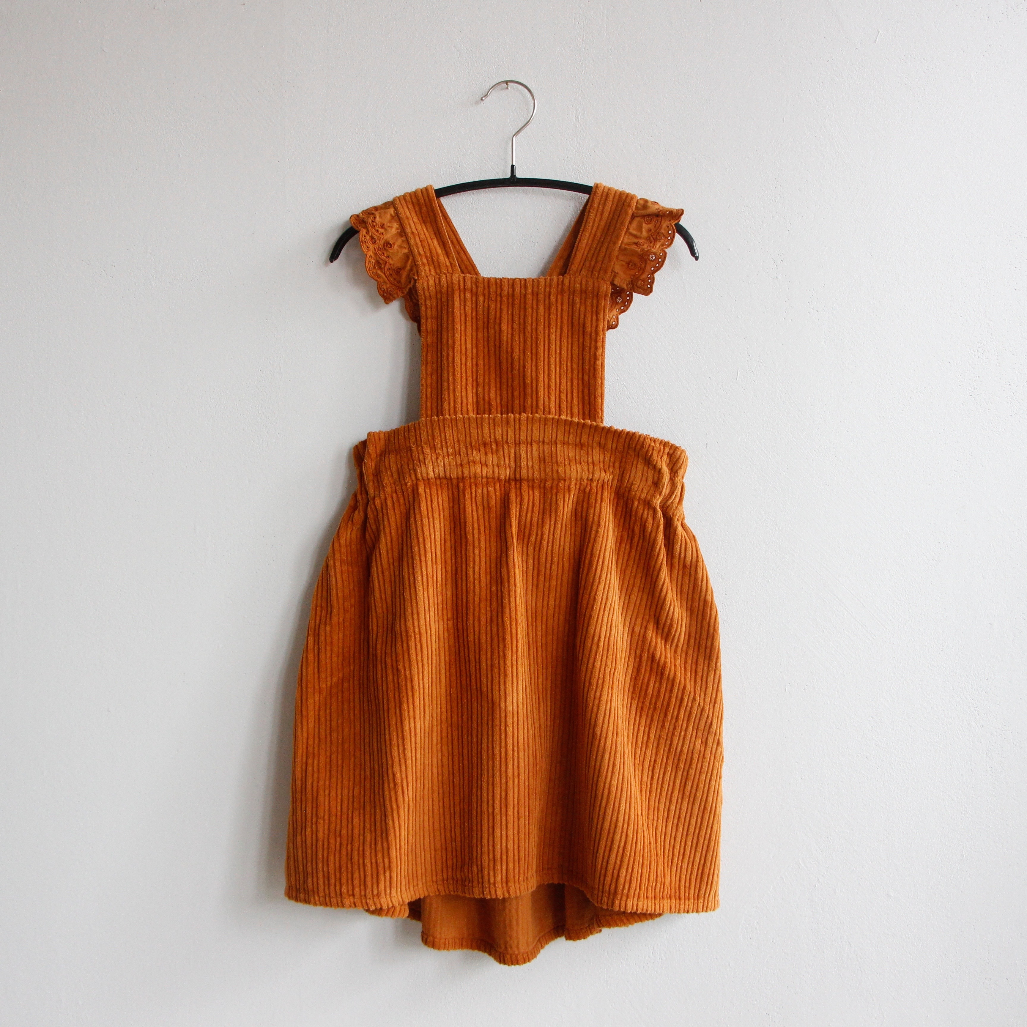 《WOLF & RITA 2020AW》CARMEN dress / corduroy orange