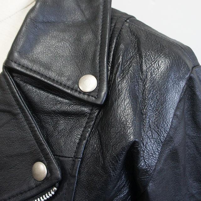 yoused ユーズド リメイクレザーダブルライダースジャケット BLACK ブラック レディース ライダース レザージャケット リメイク USED 秋 冬 通販 (品番ysd-jkt-0058)