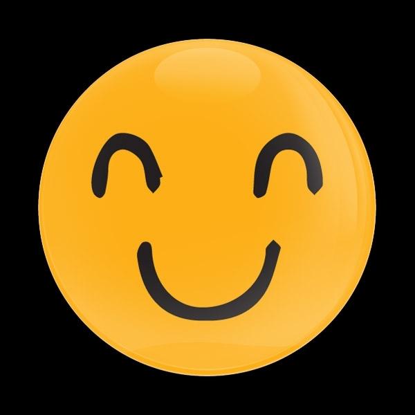 ゴーバッジ(ドーム)(CD1087 - EMOJI SMILE HAND DRAWING 2) - 画像1