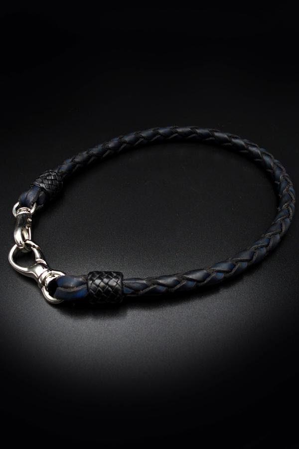 Item No.0354 :Wallet Rope/L/Hand dye dark blue