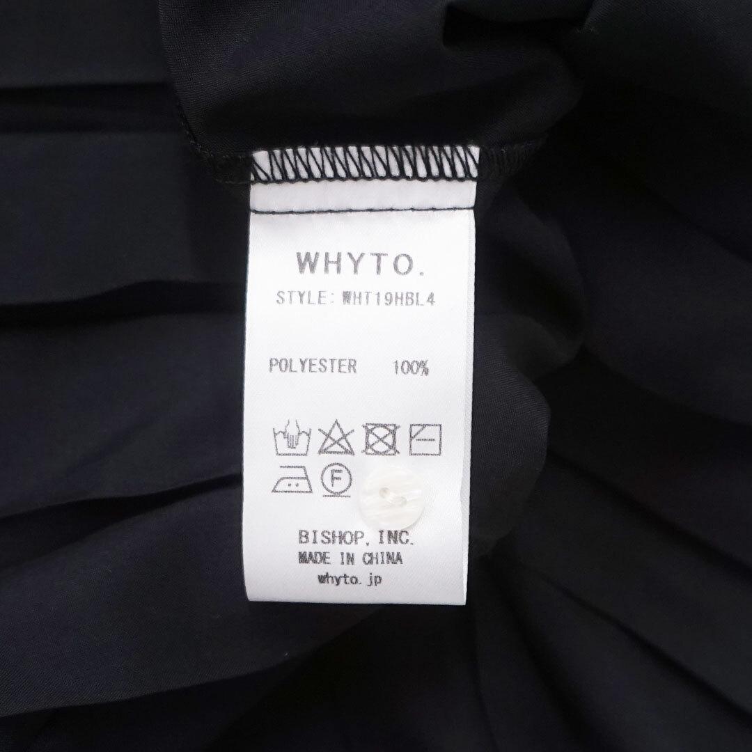 【再入荷なし】 WHYTO. ホワイト プリーツブラウス (品番wht19hbl4)