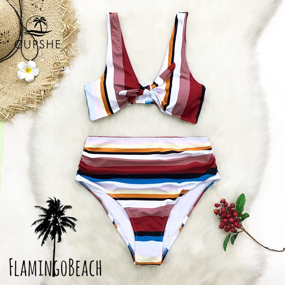 【FlamingoBeach】mix stripe bikini ビキニ