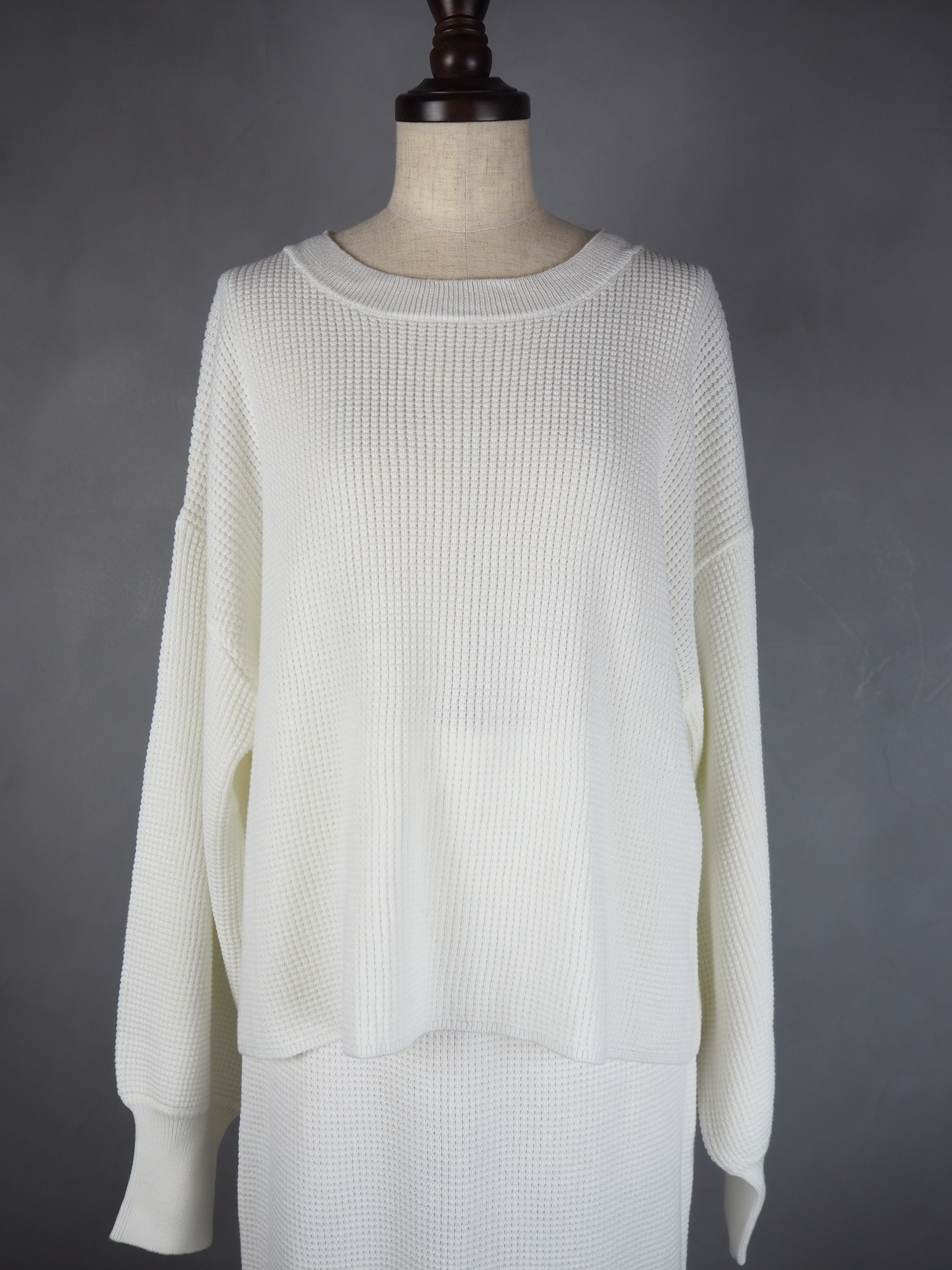 【ENLIGHTENMENT】KNIT WAFFLE PULLOVER
