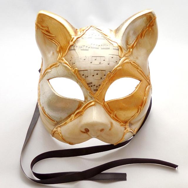 【セール】【送料無料】 (82) イタリア製 ベネチアンカーニバル マスク キャット 猫 仮面