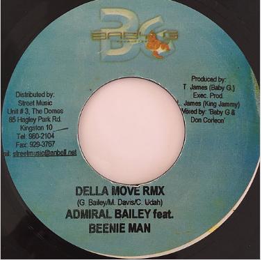 Admiral Bailey(アドミラルベイリー), Beenie Man(ビーニマン) - Della Move RMX【7-20108】