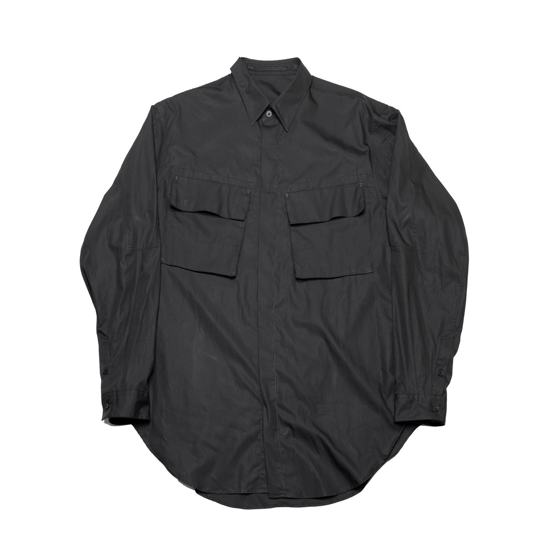 637SHM2-BLACK / ミリタリーシャツ
