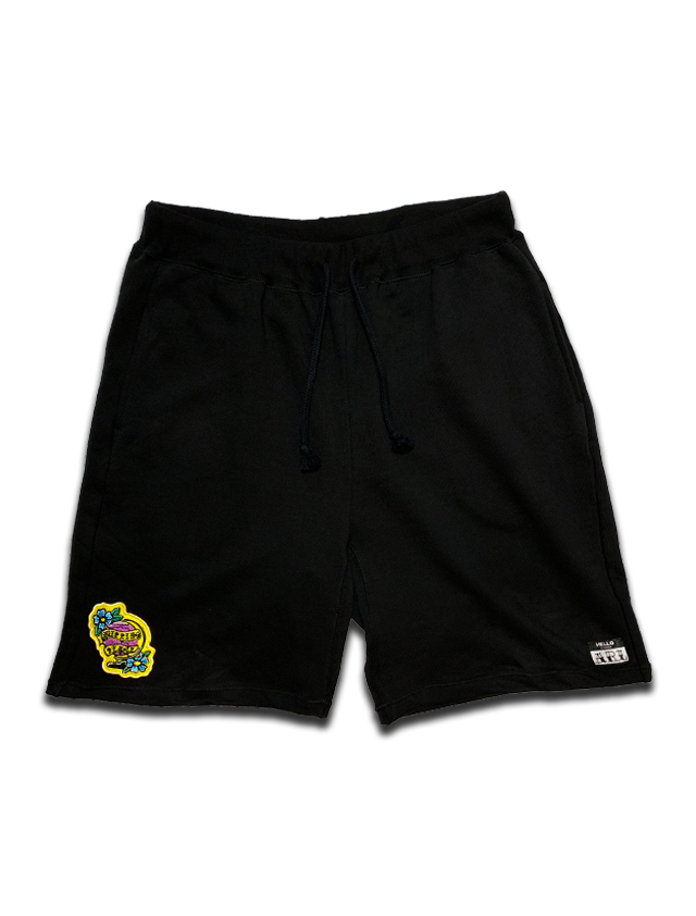 PEACE PATCH ROOM SWEAT SHORTS black