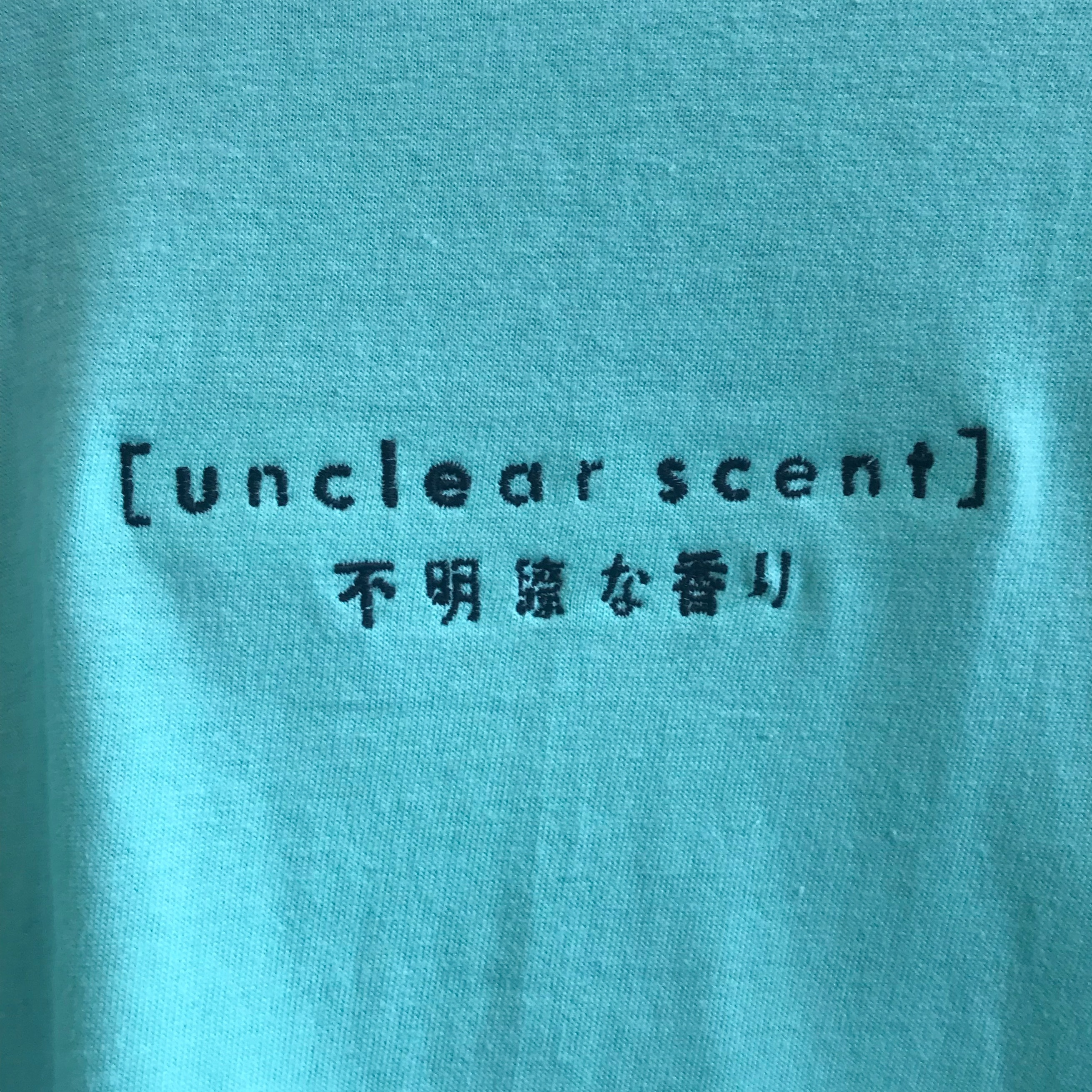 19SS unclear scent logo T-shirt〈Mint×Black〉