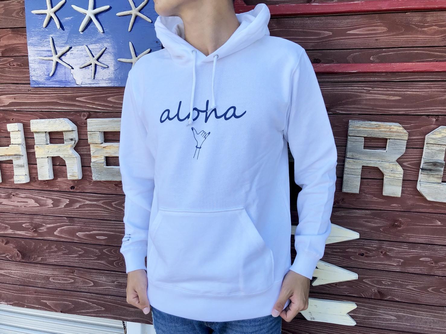 alohaサイン パーカー(white)
