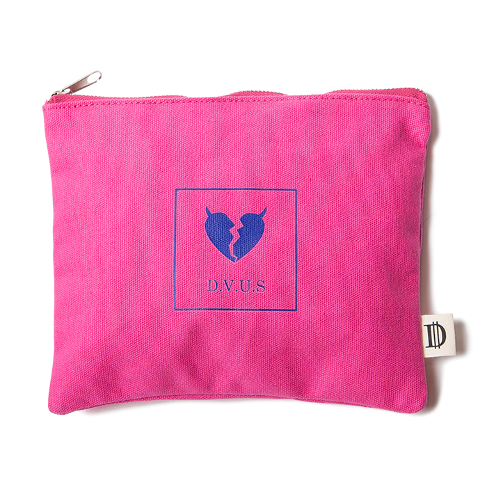 【Deviluse | デビルユース】 Heartaches Pouch(Pink)