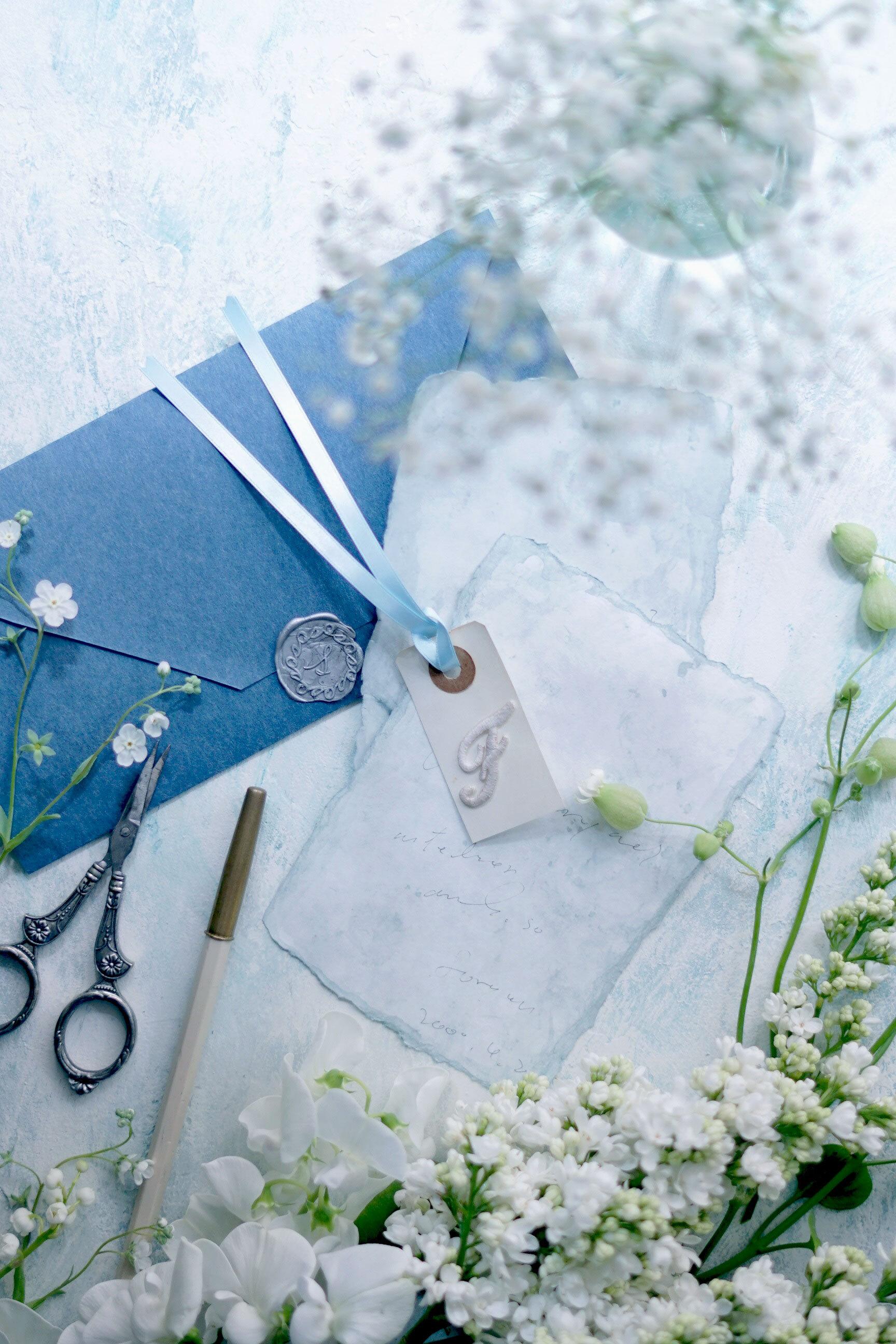 60サイズ:サムシングブルー「花香」を感じる5種の淡い色のスタイリングボード