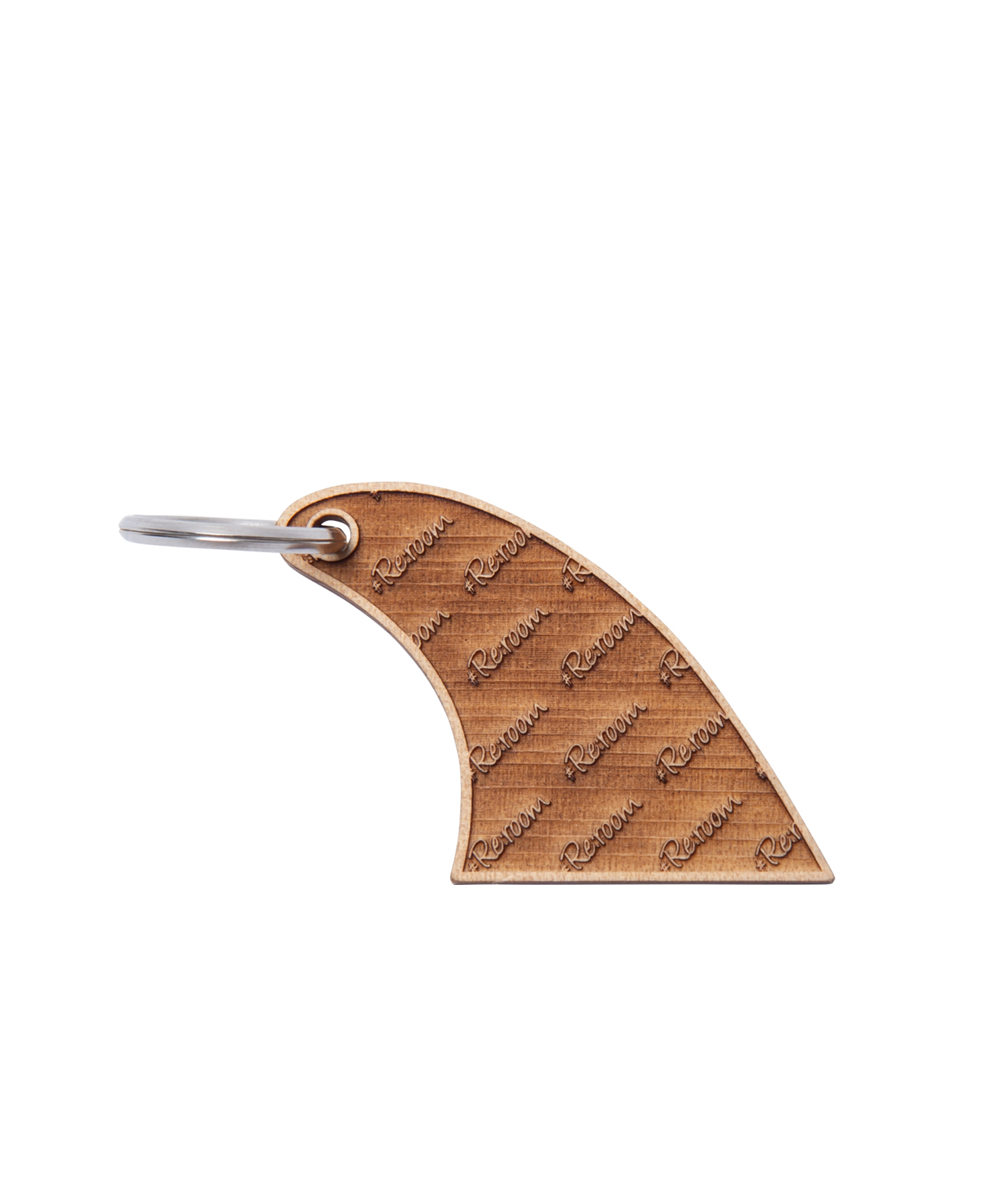"WOOD FIN KEY RING ""LOGO PATTERN""[REG081]"