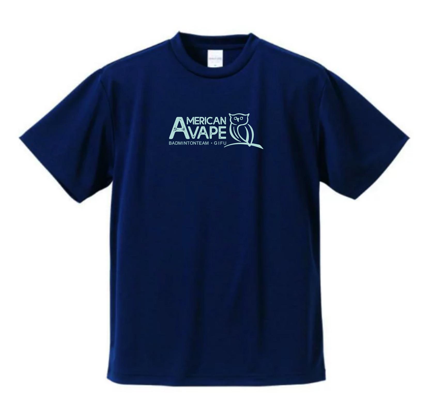 アメリカンベイプバドミントンチーム 公式Tシャツ(フクロウ:ネイビー)