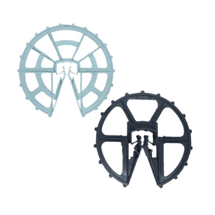 鉄筋型スペーサー ドーナツ型 (D10~16 W60 200個入 グレー・ホワイト)