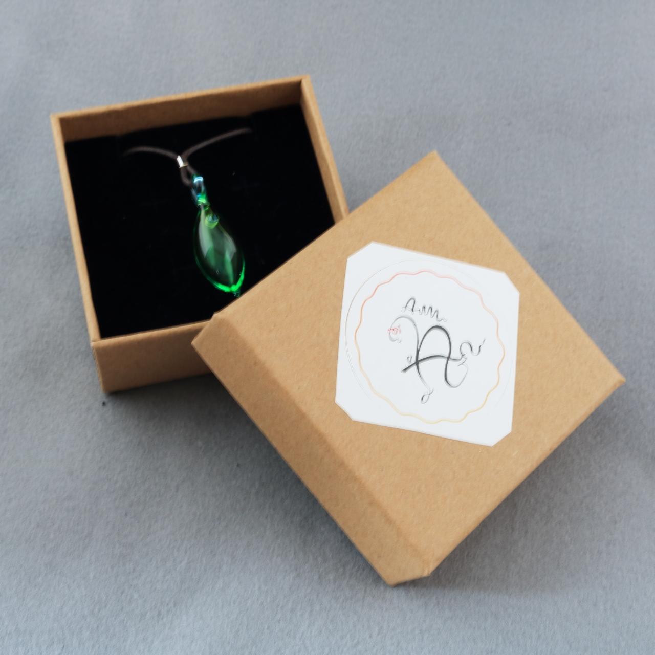硝子のアロマペンダント <Emerald>
