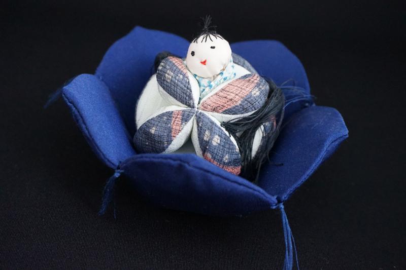着物、和服の古布人形「花人形・男の子」 - 画像2