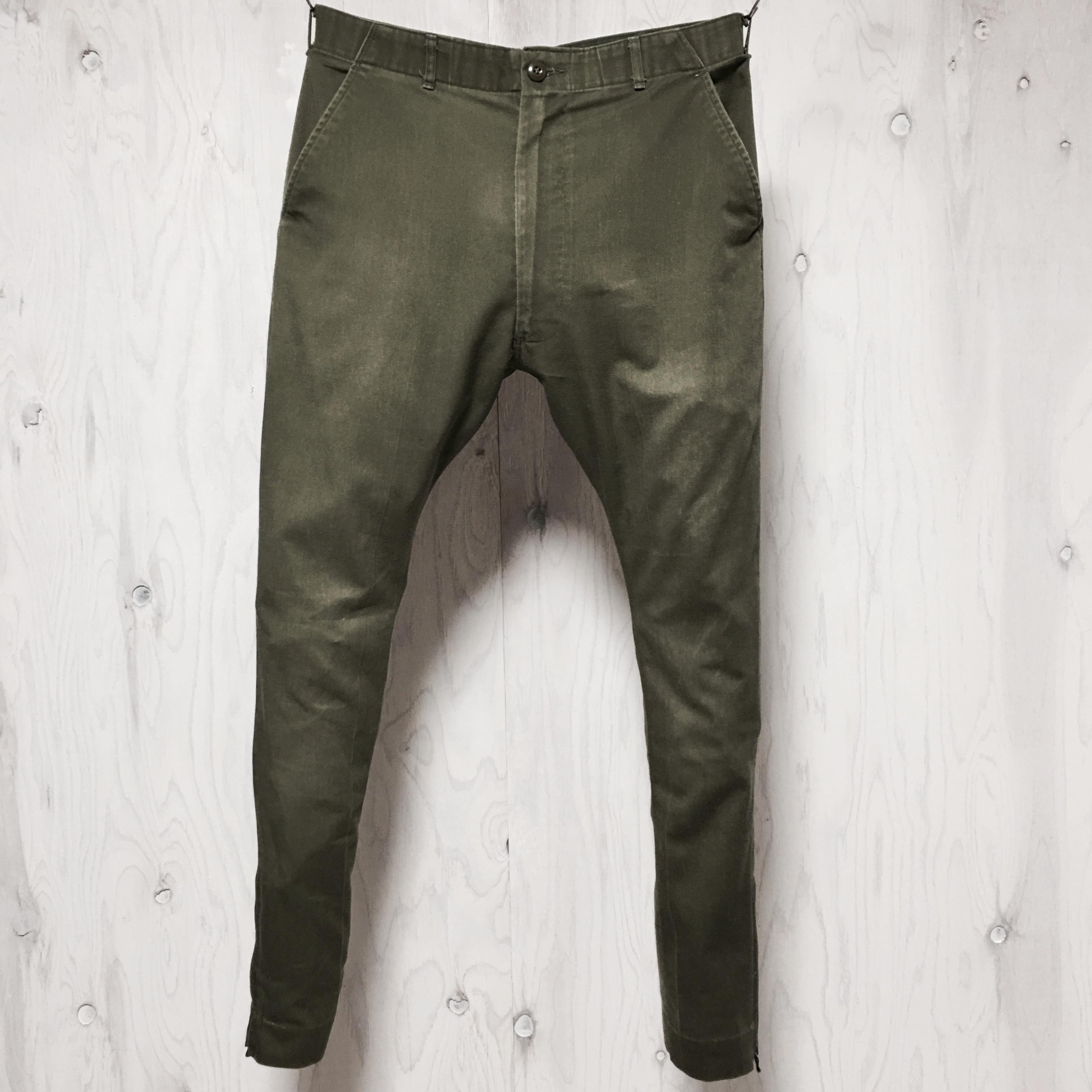 Utility pants tapered silhouette riri zip custom w33