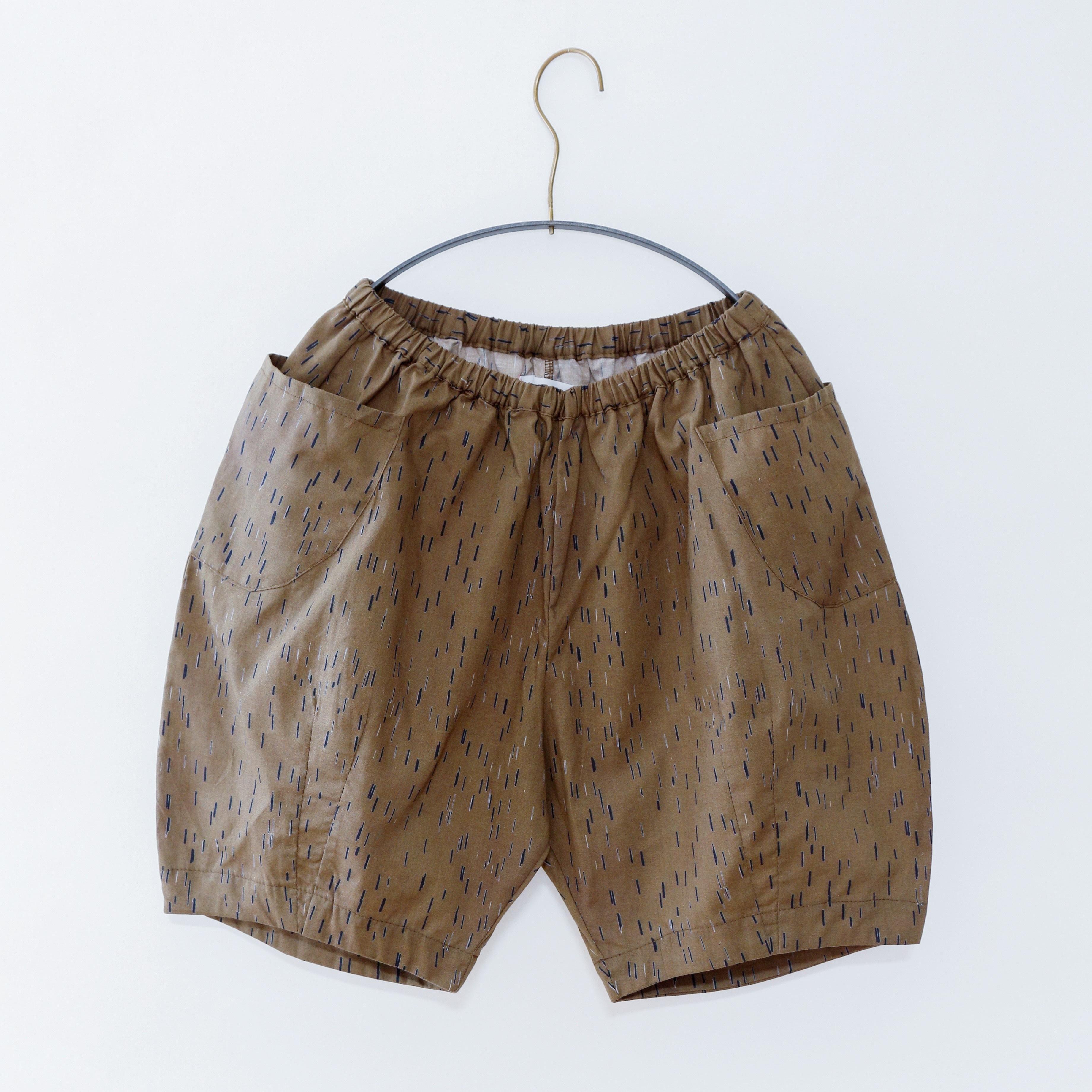 《michirico 2020SS》Outside pocket half pant / mocha / L・XL・XXL