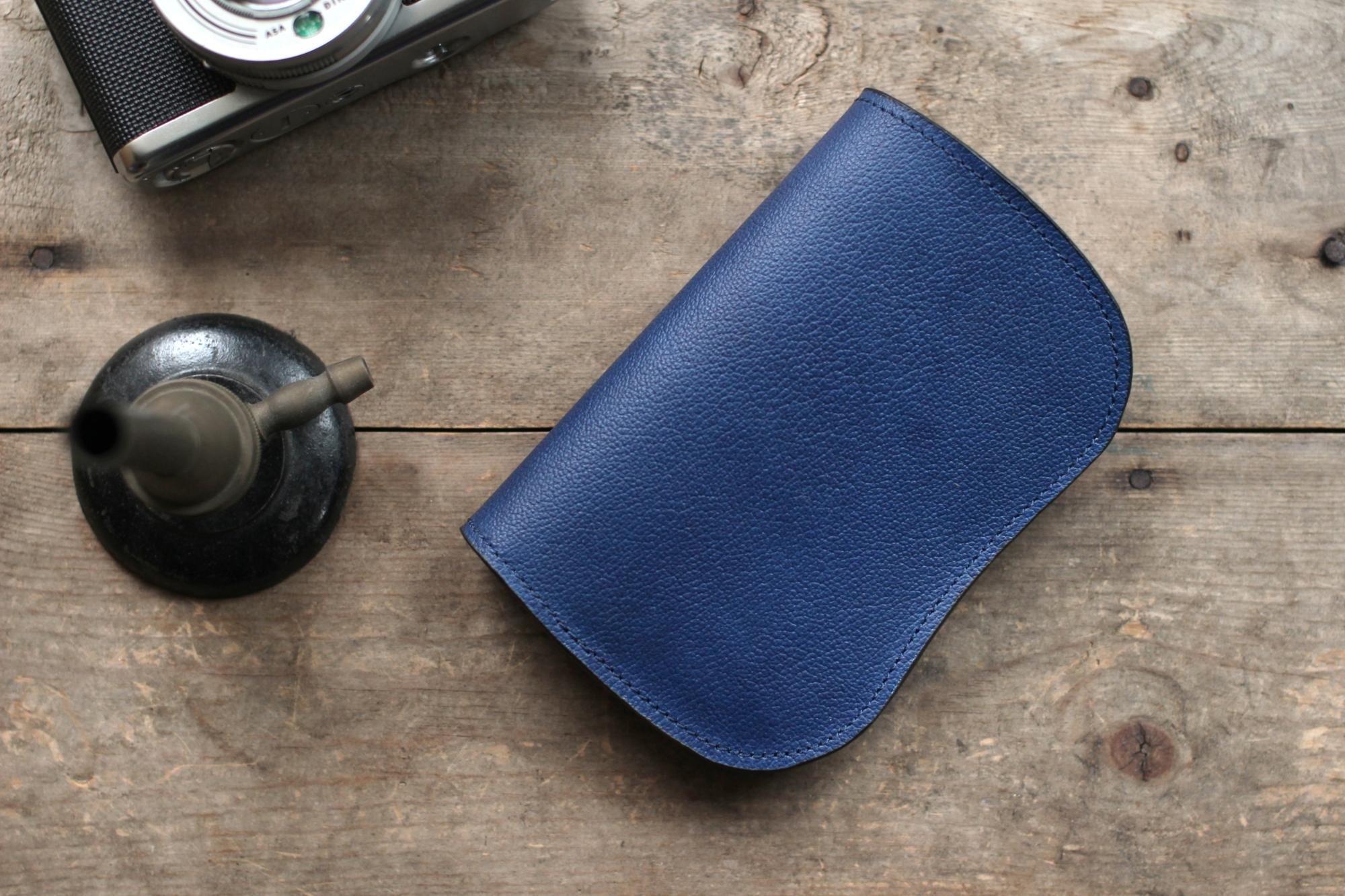 藍染革[shiboai] 二つ折り財布