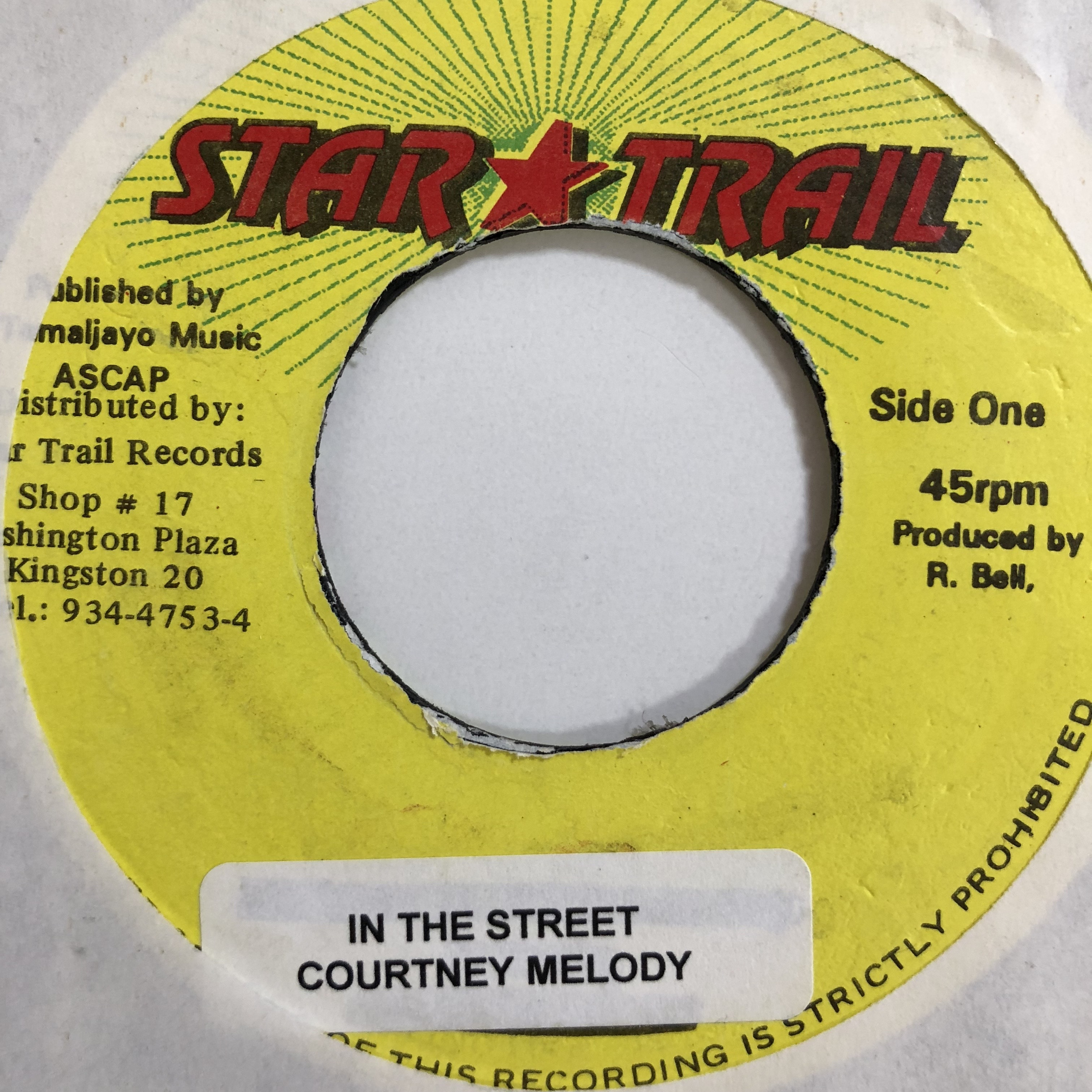 Courtney Melody(コートニーメロディ) - In The Street【7-10737】
