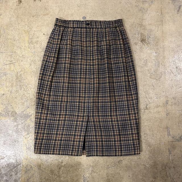 Horthington Check Skirt