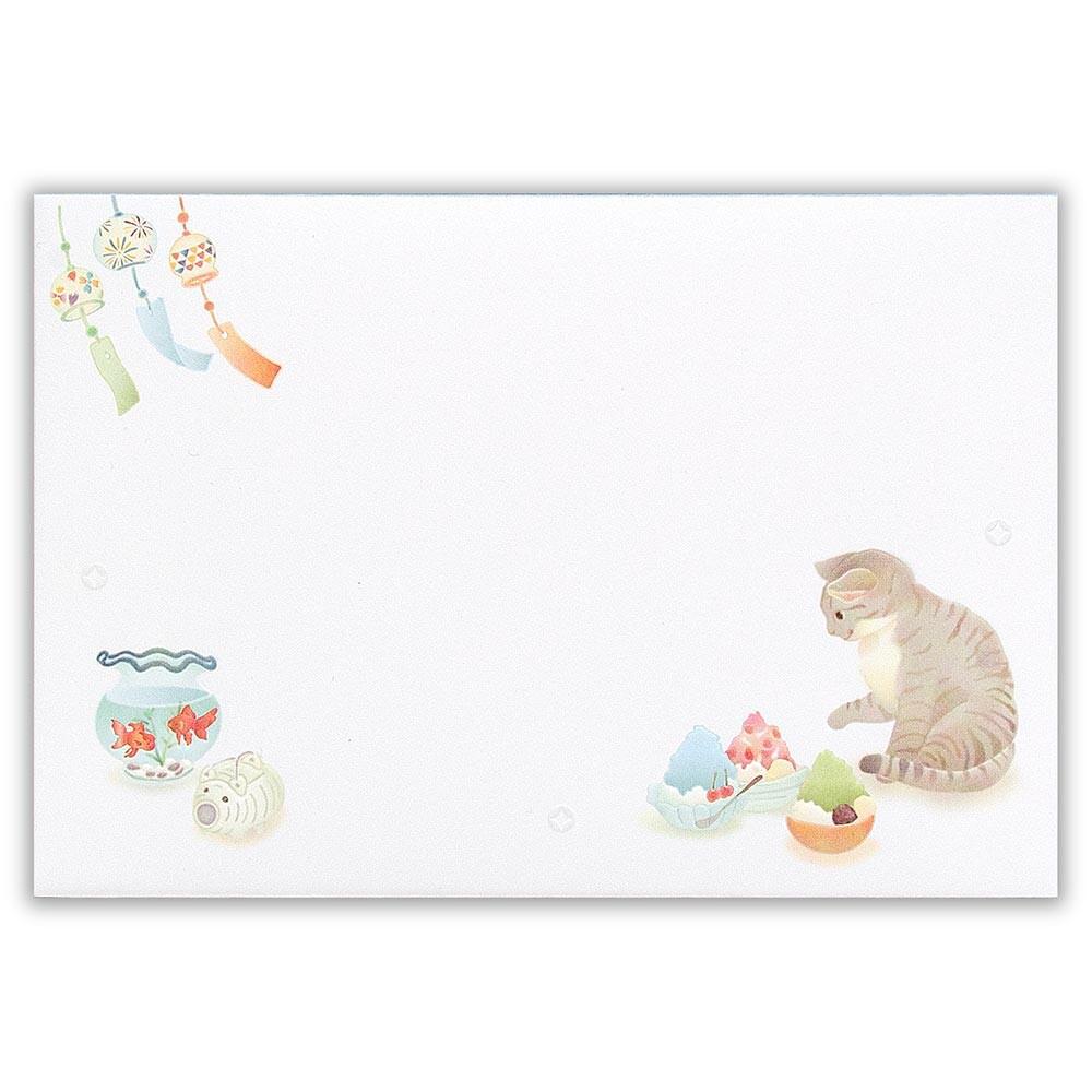 猫封筒(夏の風物詩)