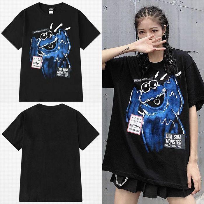 ユニセックス 半袖 Tシャツ メンズ レディース 英字 落書き風 グラフィック プリント オーバーサイズ 大きいサイズ ルーズ ストリート
