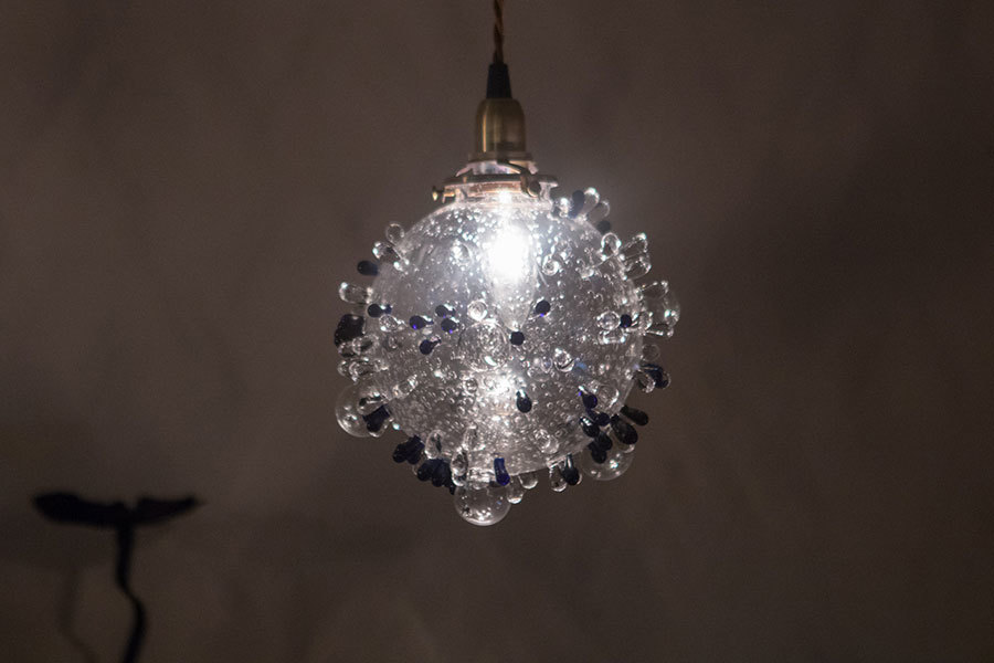 ポラリス(ガラスの吊りランプ)(ペンダントライト) 01010039
