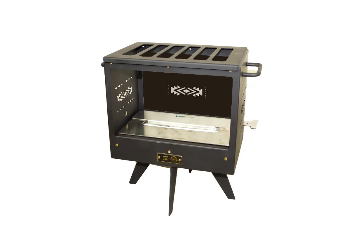 TENT暖炉ミニCDM2(片面ガラス有りタイプ)3タイプ 煙突が要らない暖炉?テントの中で安全に使えるキャンプ用暖炉バイオエタノール暖炉 CAMPOOPARTS