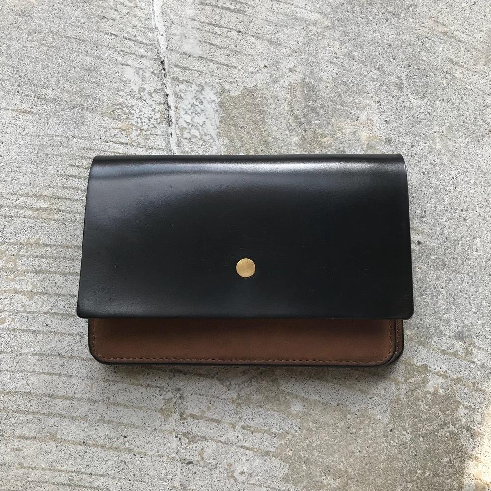 forme Hand wallet combi Cordvan black Black