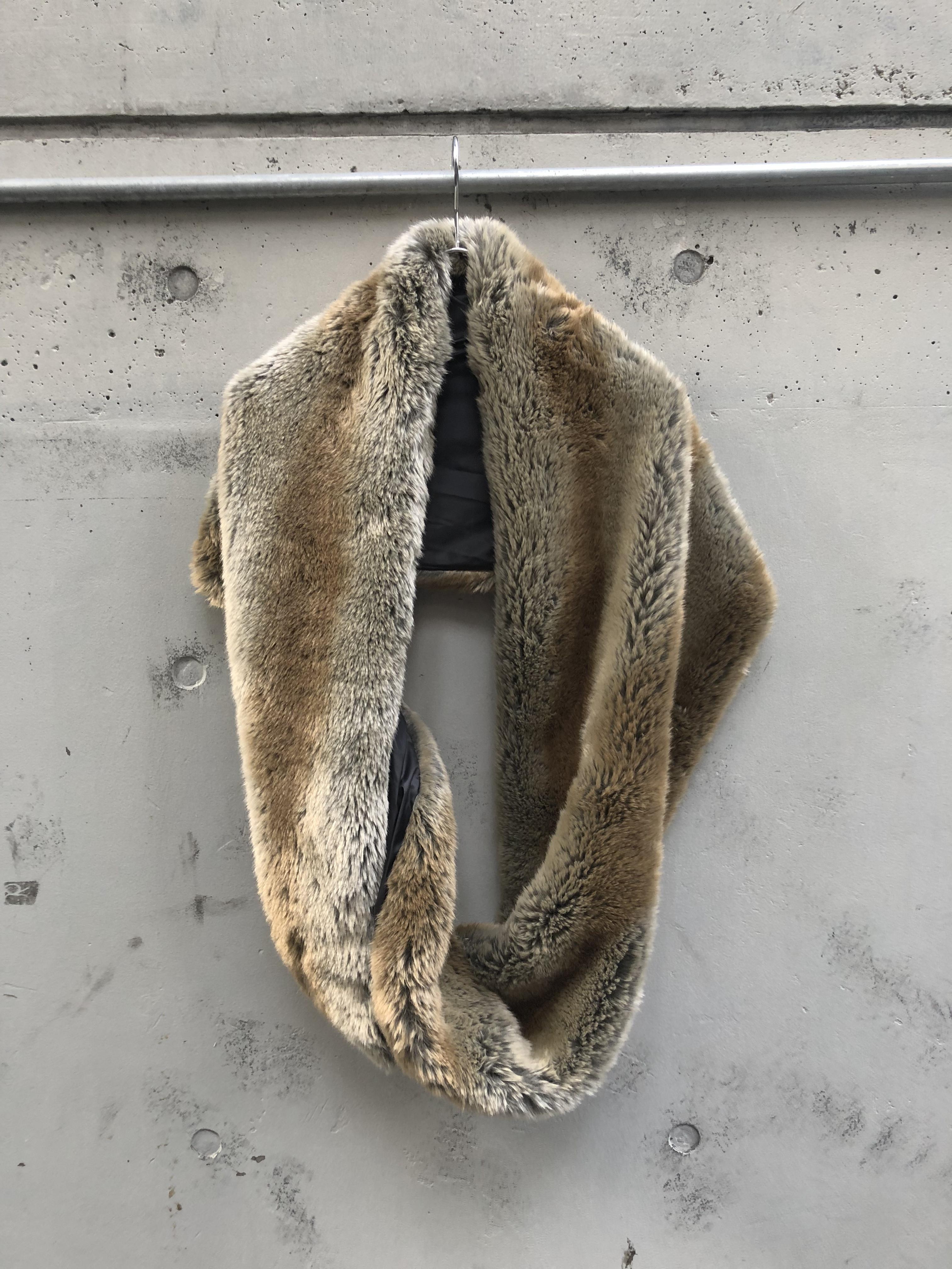 【my beautiful landlet】fake fur twisted snood  BEIGE