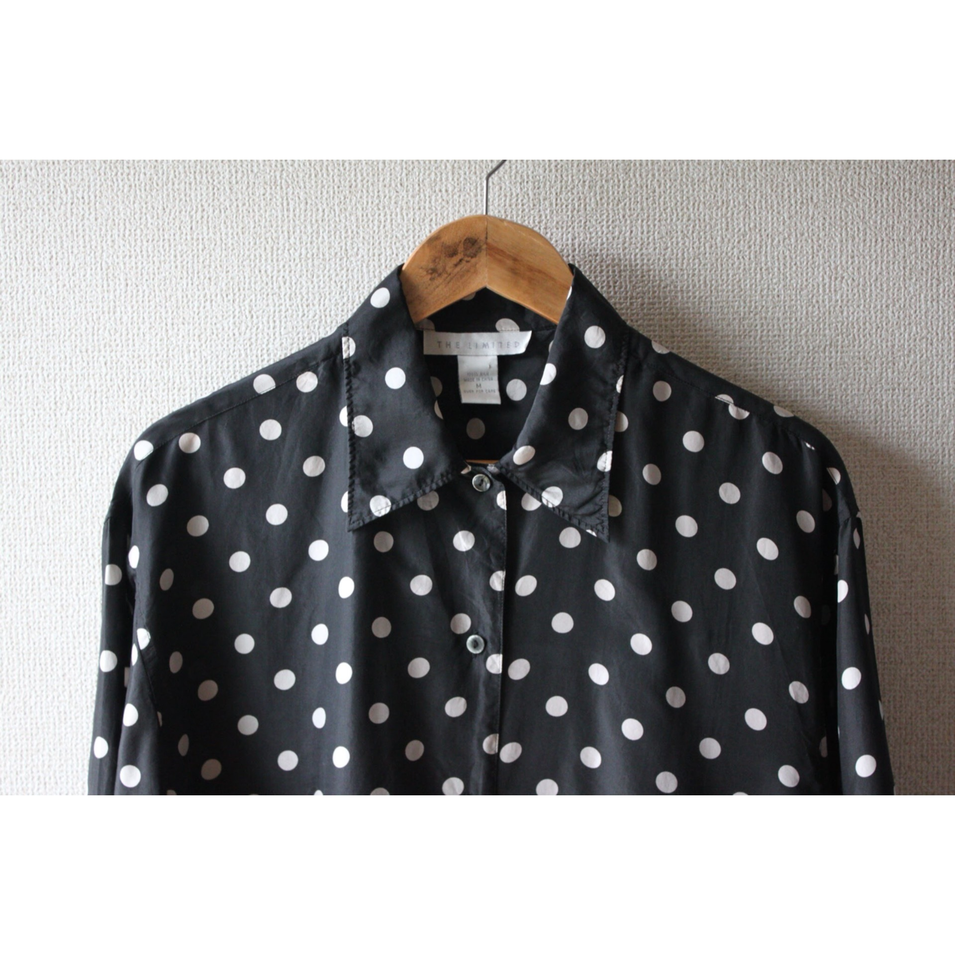 Vintage dot print silk shirt
