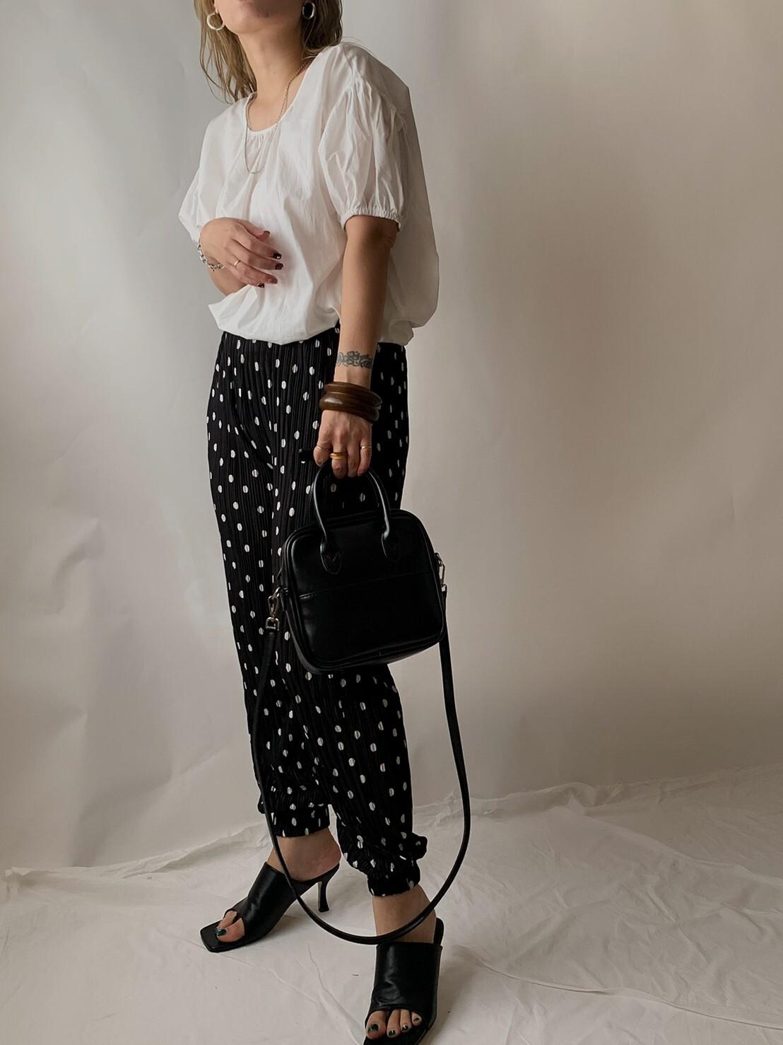 【asyu】dot jogger pants