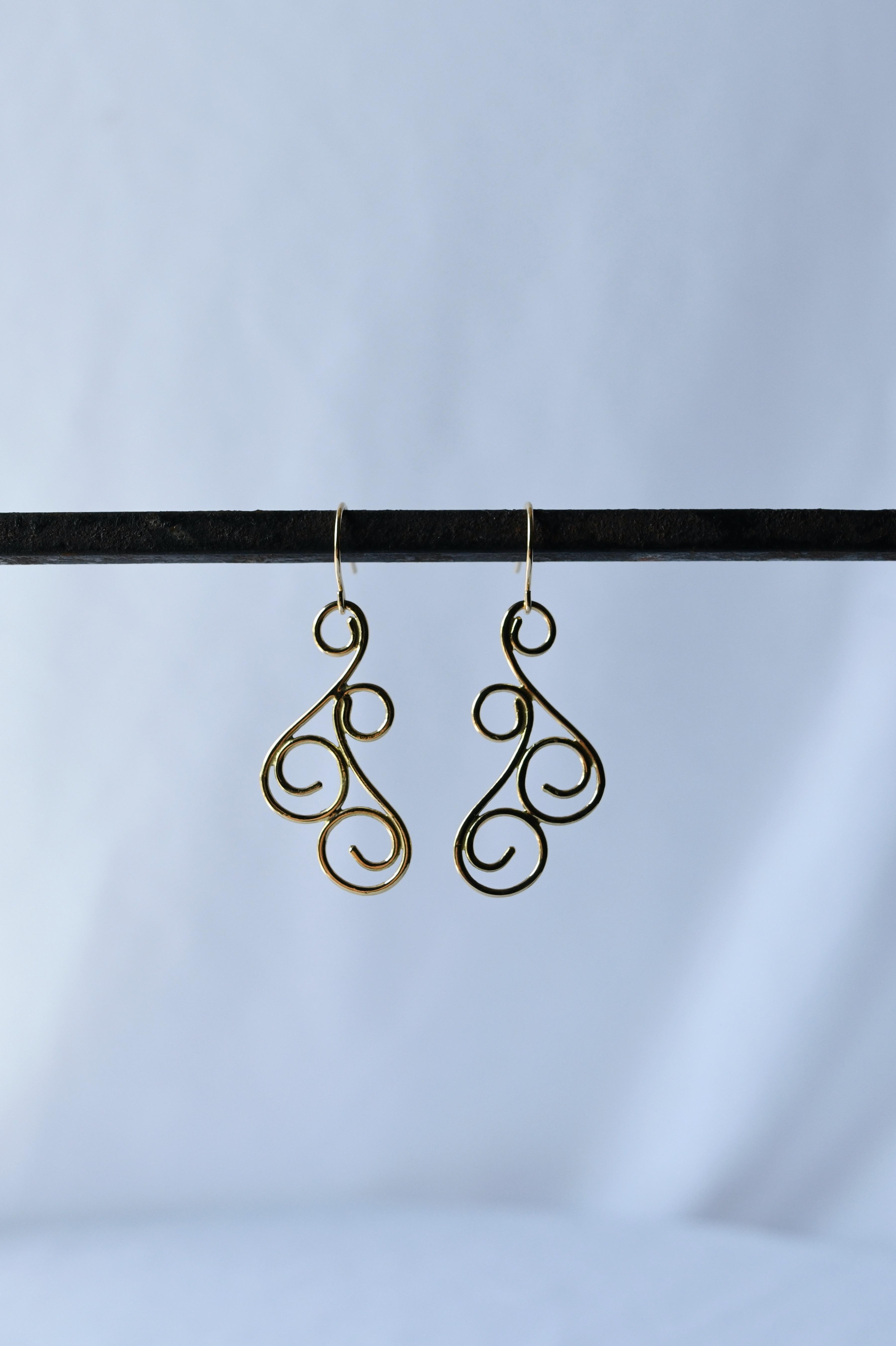 K18 Onpu Design Earrings  18金音符デザインピアス(イヤリング)