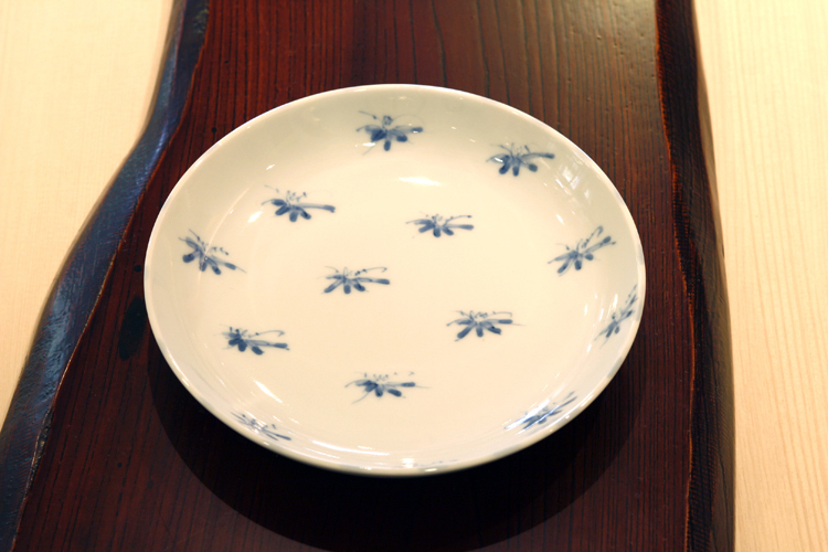 笹図 5寸皿 作・井手國博 与志郎窯(有田焼)
