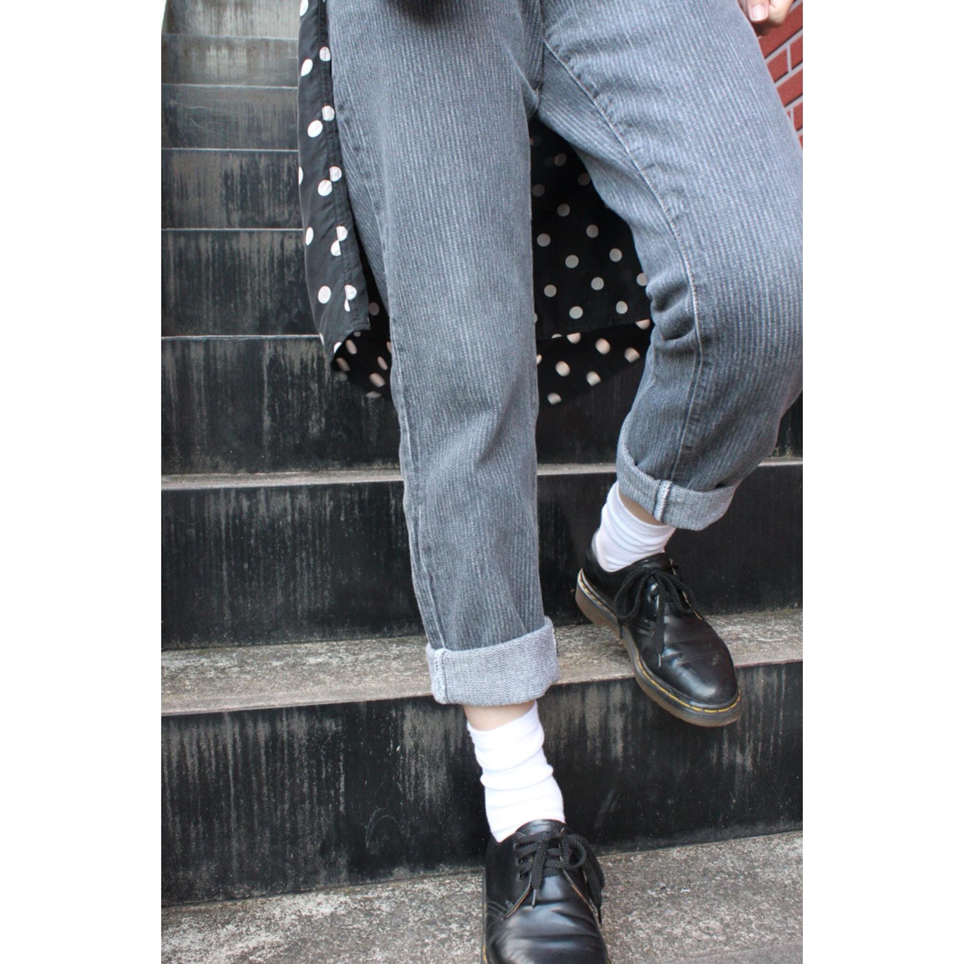 Vintage stripe denim pants by Levis
