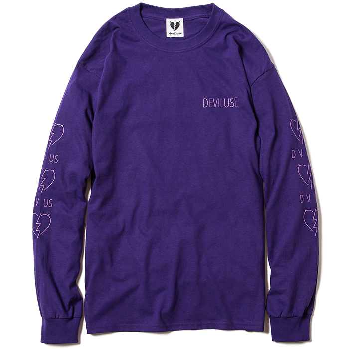 【Deviluse | デビルユース】Woman Neon L/S T-shirts(Purple)