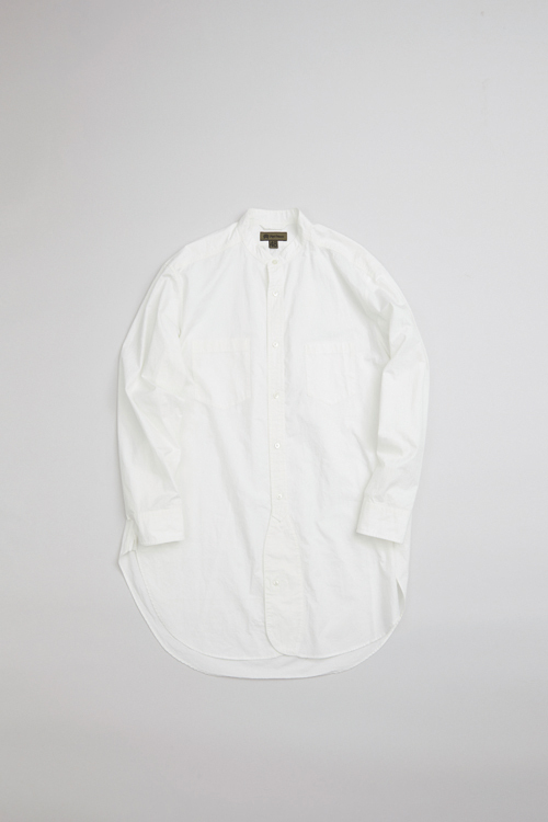 スタンドカラーシャツ / STAND COLLAR SHIRT TWILL