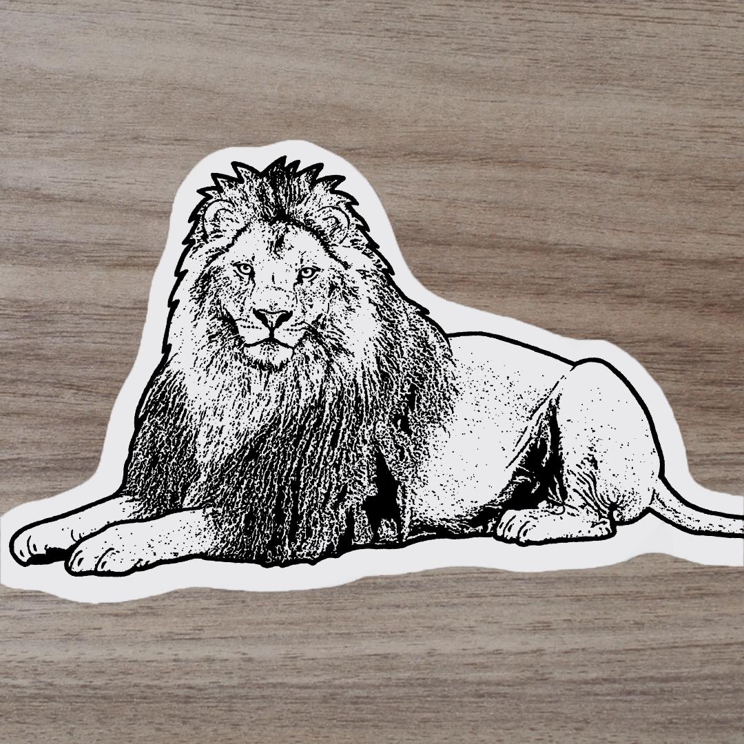ミニステッカー(ライオン)