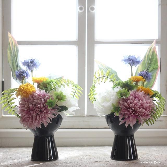 供花・仏花 ブラック一対12000
