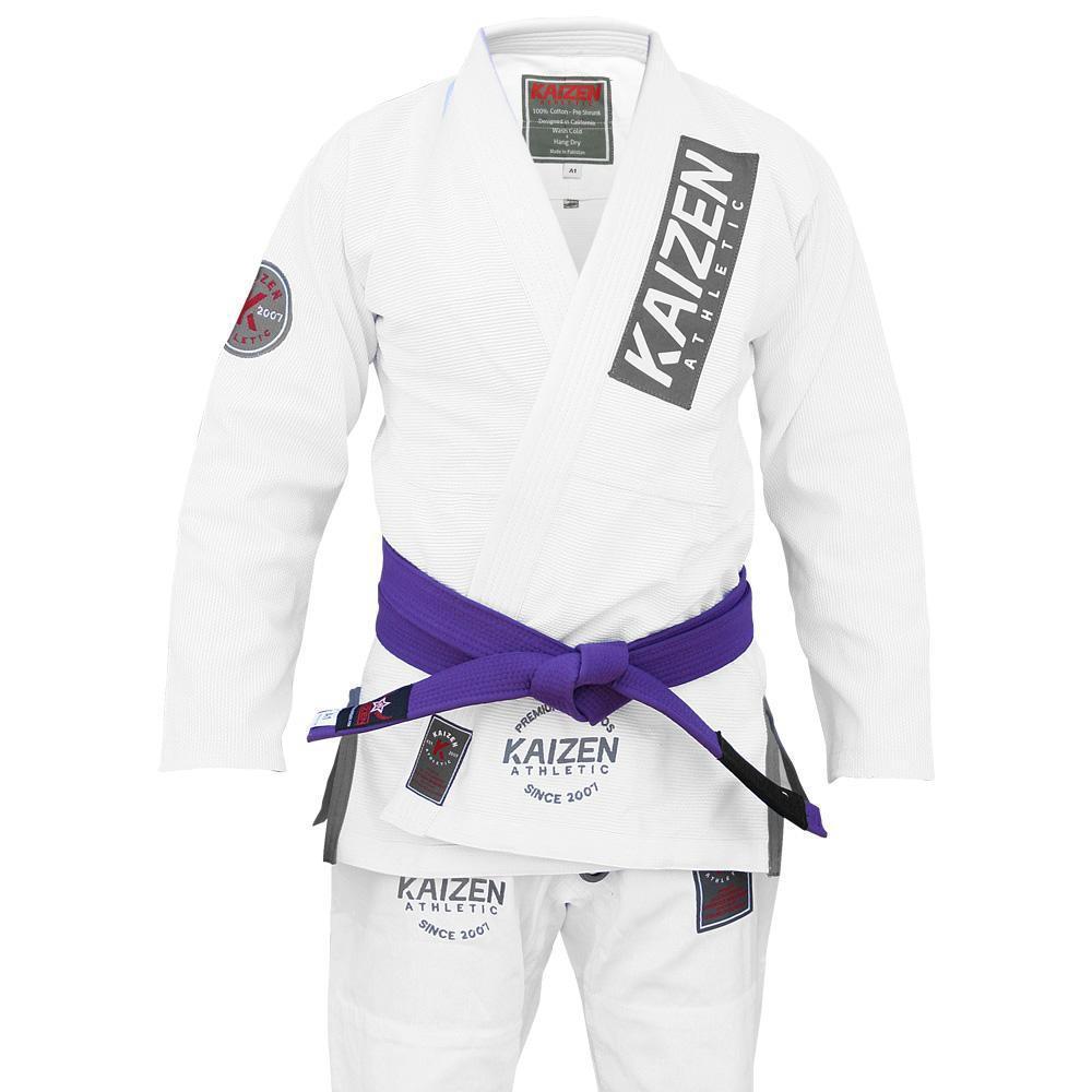 Kaizen Athletic Competitor BJJ Kimono - ホワイト 白|ブラジリアン柔術道衣